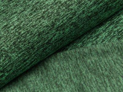 Angerauter Strickstoff  - meliert dunkles grün