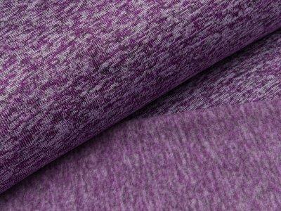 Angerauter Strickstoff  - meliert lila