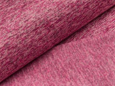 Angerauter Strickstoff  - meliert rosa
