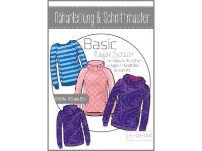 Papierschnittmuster ki-ba-doo BASIC Raglan Sweater Kids