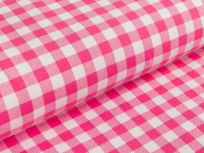 Jersey - Vichy-Karo 1 x 1 cm - pink/weiß