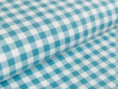 Jersey - Vichy-Karo 1 x 1 cm- blau/weiß