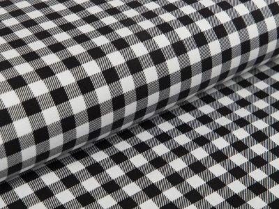 Jersey - Vichy-Karo 1 x 1 cm - schwarz/weiß
