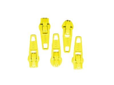 Slider / Zipper / Automatikschieber für Reißverschlüsse Größe 3 - Set 5 Stück gelb