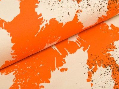 Sweat French Terry by Mies&Moos - Splash - orange