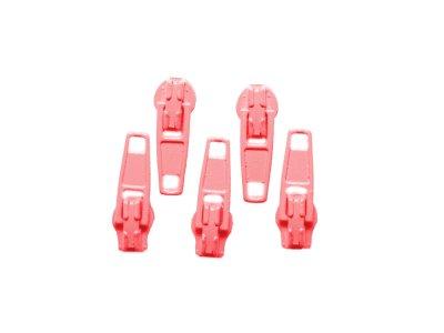 Slider / Zipper / Automatikschieber für Reißverschlüsse Größe 3 - Set 5 Stück altrosa