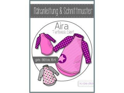 Papierschnittmuster ki-ba-doo Aira Turtleneck Shirt Mädchen