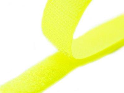 Klettband zum Aufnähen Flauschband & Hakenband ca. 20 mm - neongelb