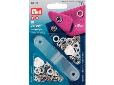 Prym 10 NF-Druckknopf Jersey Zackenring MS 10 mm - weiß