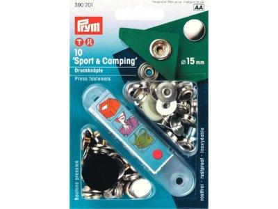 Prym 10 NF-Druckknopf Sport & Camping - silberfarben