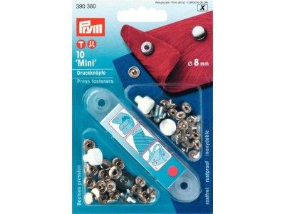 Prym 10 NF-Druckknopf Mini MS 8 mm - silberfarben