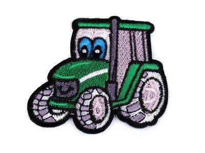 Aufbügler ca. 7 cm x 6 cm - Traktor - grün