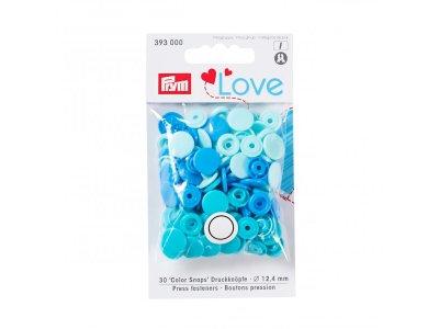 Color Snaps Druckknöpfe Prym Love 30 Stück/12,4mm gemischt - blau,mint,türkis