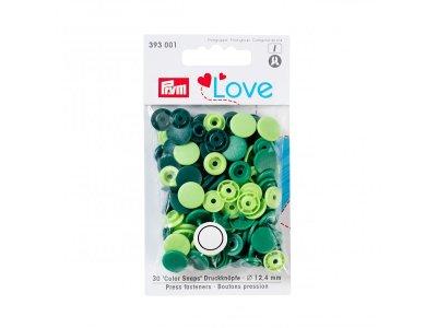 Color Snaps Druckknöpfe Prym Love 30 Stück/12,4mm gemischt - grün Töne