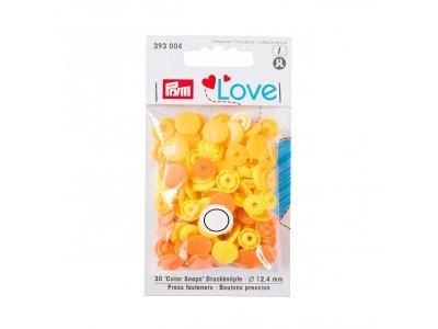 Color Snaps Druckknöpfe Prym Love 30 Stück/12,4mm gemischt - orange,gelb Töne