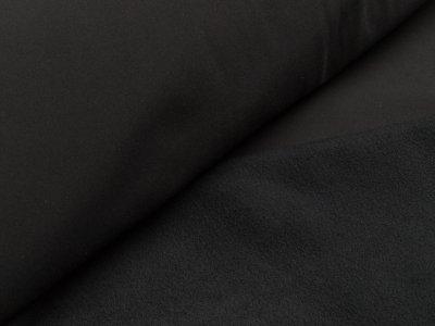 Jackenstoff Softshell - uni schwarz