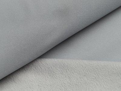 Jackenstoff Softshell - uni grau
