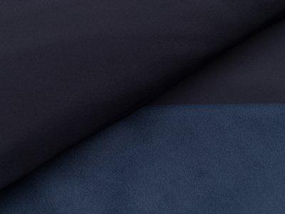Jackenstoff Softshell - uni nachtblau