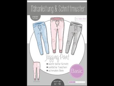 Papierschnittmuster ki-ba-doo BASIC Jogging-Pants Damen