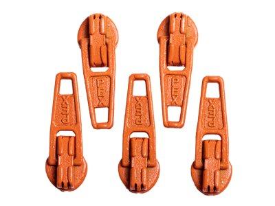 Slider / Zipper / Automatikschieber für Reißverschlüsse Größe 3 - Set 5 Stück karottenorange