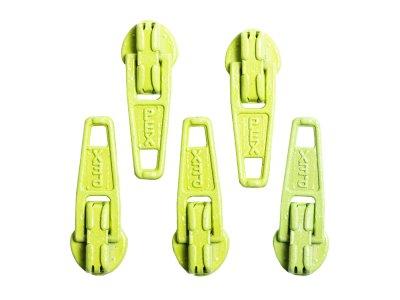 Slider / Zipper / Automatikschieber für Reißverschlüsse Größe 3 - Set 5 Stück hellgrün