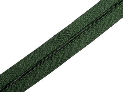 Endlosreißverschluss 3mm - dunkelgrün