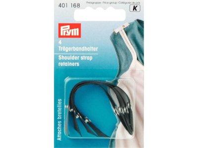 Prym 4 Trägerbandhalter - schwarz