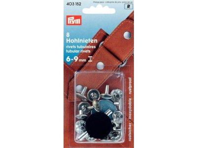 Prym 8 Hohlnieten 9mm 6-9mm Klemmber
