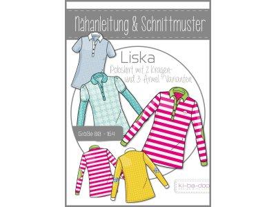 Papierschnittmuster ki-ba-doo Liska Poloshirt 5 Varianten Mädchen