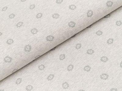 Jersey Organic Cotton - kleine Pusteblumen - meliert grau