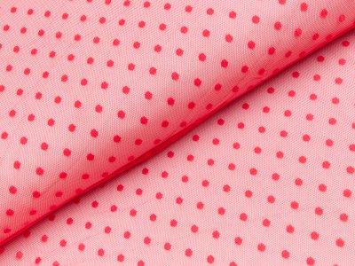Tüll - Punkte - rot