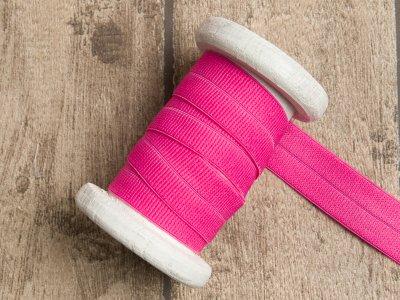 Elastisches Einfassband/Falzgummi - uni pink