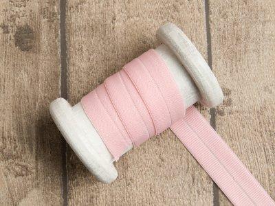 Elastisches Einfassband/Falzgummi - uni rosa