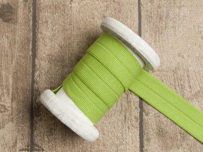 Elastisches Einfassband/Falzgummi - uni grün