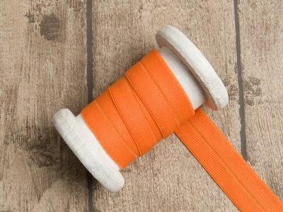Elastisches Einfassband/Falzgummi - uni orange
