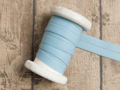 Elastisches Einfassband/Falzgummi - uni helles blau