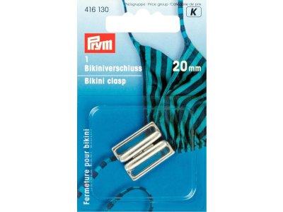 Prym Bikini- und Gürtelverschluss 20mm - silberfarben