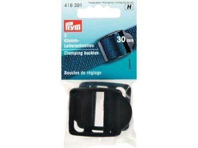 Prym 2 Klemm-Leiterschnallen 30mm - schwarz