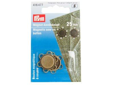 Magnet-Annähknopf Prym 1Stk/25mm - messing