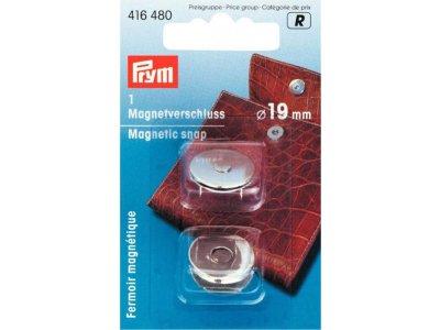 Prym Magnet-Verschluß 19mm - silberfarben