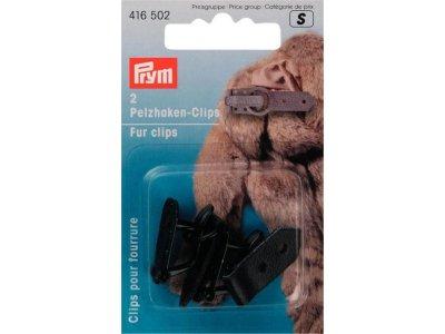 Prym 2 Pelzhaken-Clips - schwarz