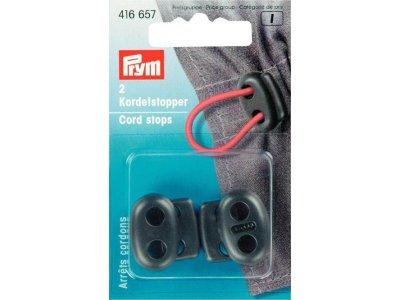 Prym 2 Kordelstopper - schwarz