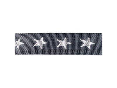 Gurtband ca. 40 mm - Sterne - dunkles grau