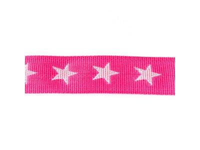 Gurtband ca. 40 mm - Sterne - dunkles rosa