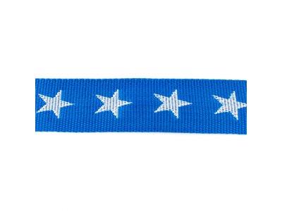 Gurtband ca. 40 mm - Sterne - royalblau