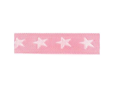 Gurtband ca. 40 mm - Sterne - rosa