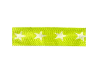 Gurtband ca. 40 mm - Sterne - lime