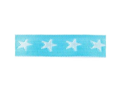 Gurtband ca. 40 mm - Sterne - helles blau