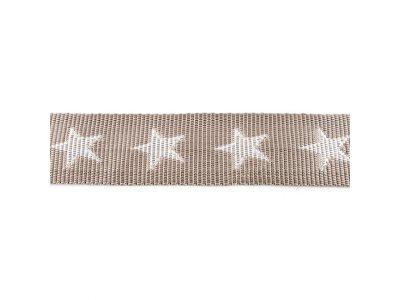 Gurtband ca. 40 mm - Sterne - helles grau