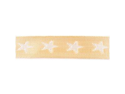 Gurtband ca. 40 mm - Sterne - sand